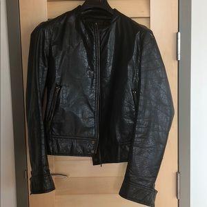 Costume National leather bomber jacket